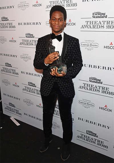 Tyrone Huntley, winner of the Emerging Talent Award in partnership with Burberry Photo: Dave Benett