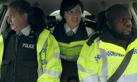'PC' Delroy Atkinson Does Ride-Along With Morgana Robinson's 'Miranda Hart' in, The Agency