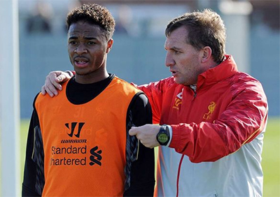 Raheem Sterling and Liverpool FC manager, Brendan Rodgers