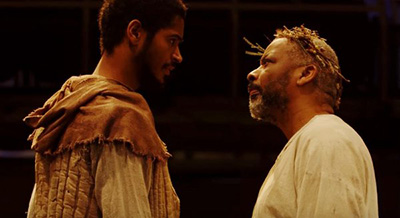 Alfred Enoch & Don Warrington in King Lear
