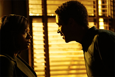 Viola Davis and Alfred Enoch in How to Get Away With Murder