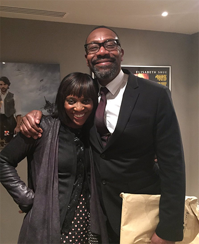 Host, Brenda Emmanus with Sir Lenny Henry