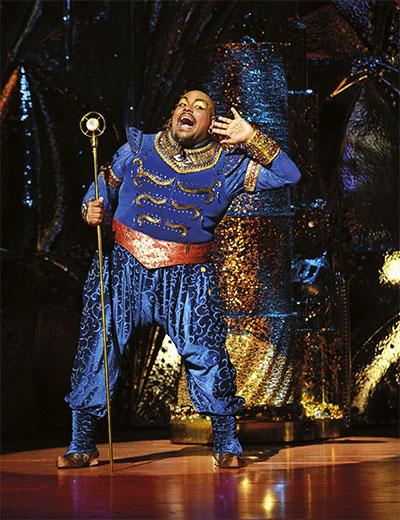 Aladdin Prince Edward Theatre Trevor Dion Nicholas (Genie) Photographer Deen van Meer © Disney