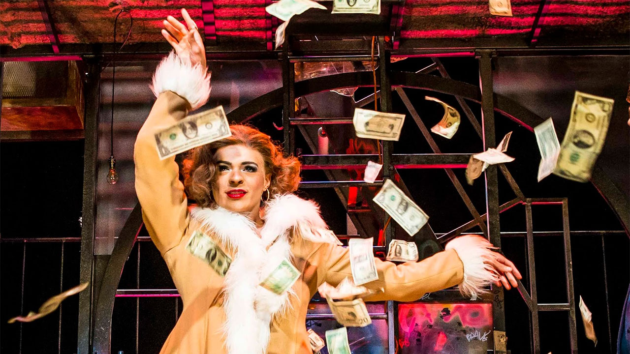 Layton Williams as Angel Schunard in Rent the musical