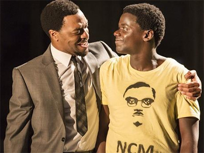(l-r) Chiwetel Ejiofor as Patrice Lumumba ; Daniel Kaluuya as Joseph Mobutu in A Season in the Congo (Young Vic, 2013) Photo: Johan Persson