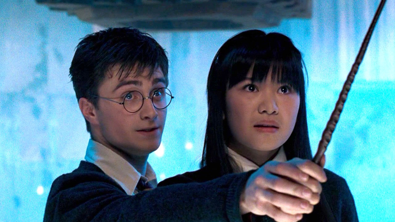 Daniel Radcliffe as Harry Potter and Katie Leung as Cho Chang in Harry Potter and the Order of the Phoenix (2007) - image from hotflick.net