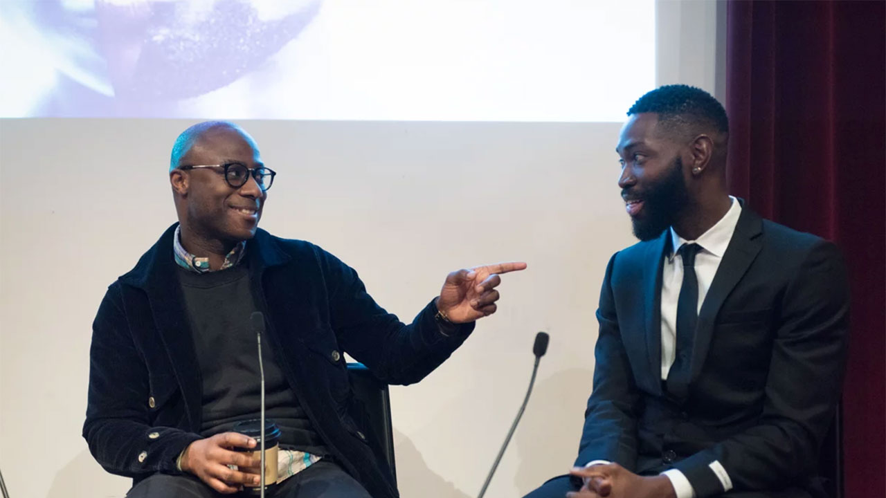 (l-r) Barry Jenkins; Tarell Alvin Mccraney