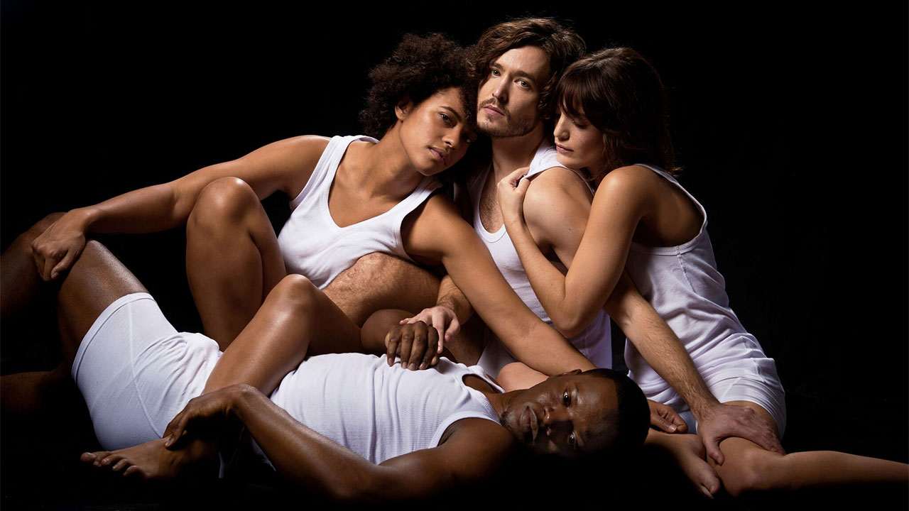 Cast of La Ronde: Amanda Wilkin, Alex Vlahos, Lauren Samuels, Leemore Marrett Jr Photo Credit: Ray Burmiston