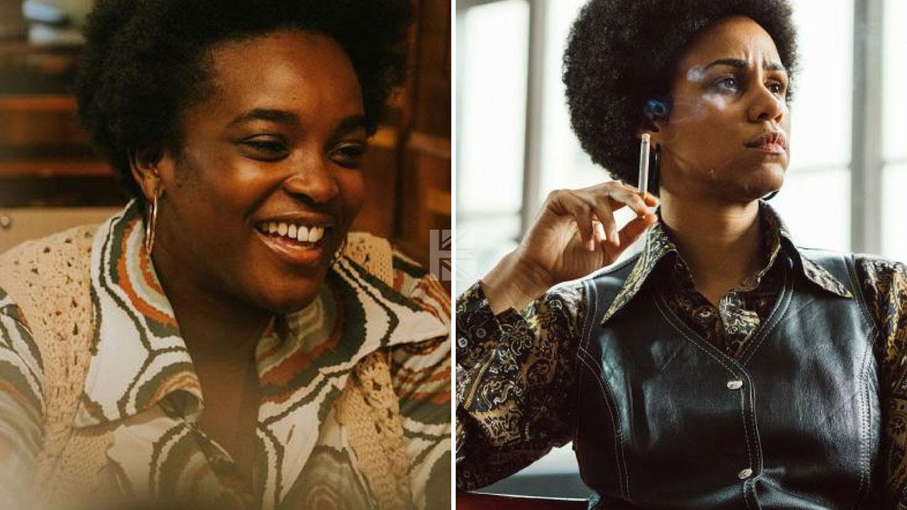(l-r) Wunmi Mosaku as Kenya; Zawe Ashton as Omega