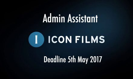 Icon Films is Recruiting – Admin Assistant. Deadline 5th May 2017. Based in Bristol