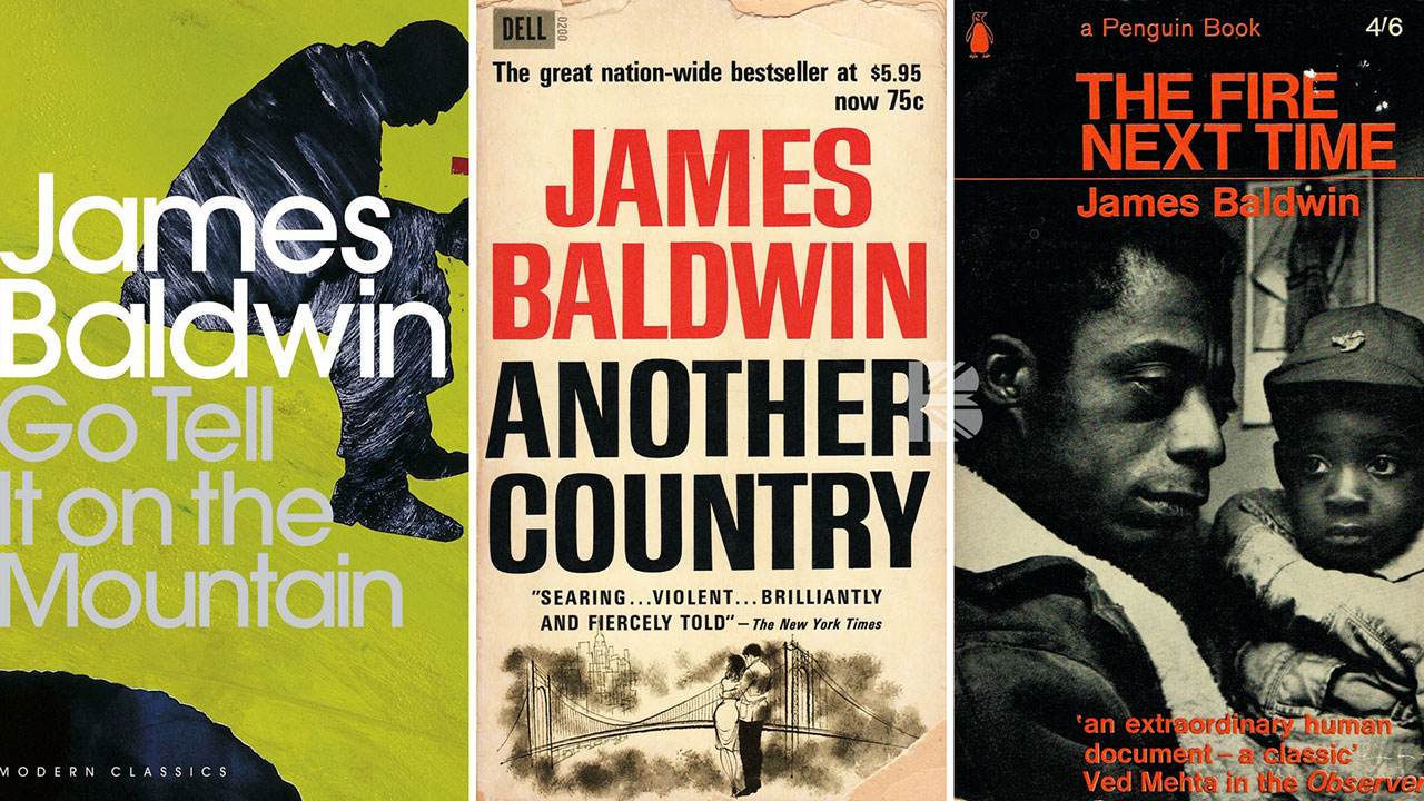 Just some of James Baldwin's classic books.