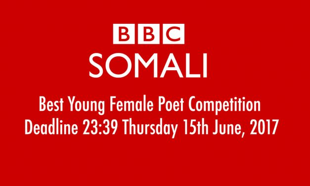 BBC Somali Seeks Best Young Female Poet. Deadline 23:39 Thursday 15th June, 2017