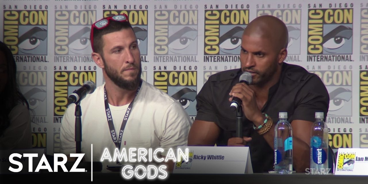 Neil Gaiman Gives Thumbs Up to Ricky Whittle & American Gods @ Comic Con 2016