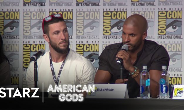 Neil Gaiman‬ Gives Thumbs Up to Ricky Whittle & American Gods @ Comic Con 2016