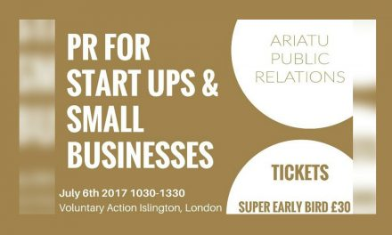 What's On – PR For Start Ups and Small Businesses Thursday, July 6, 2017 10:30am – 1:30pm