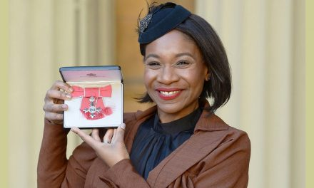 Karen Bryson honours her father who was in the British army as she receives her MBE for services to drama