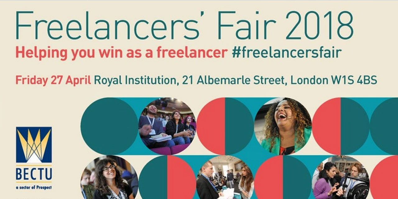 BECTU's Film & TV Freelancers' Fair 2018 takes place Friday 27 April. Book Now!