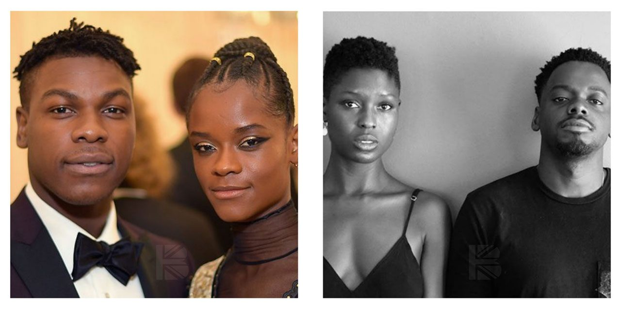 Daniel Kaluuya, Letitia Wright & John Boyega representing black love on screen