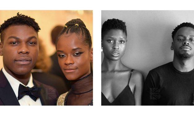 Daniel Kaluuya, Letitia Wright & John Boyega representing black love on screen