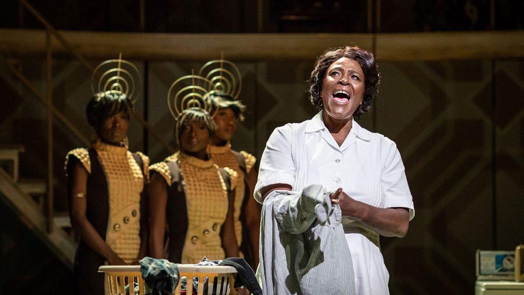 Sharon D. Clarke and ensemble in Caroline Or Change.  Photo Credit Helen Maybanks