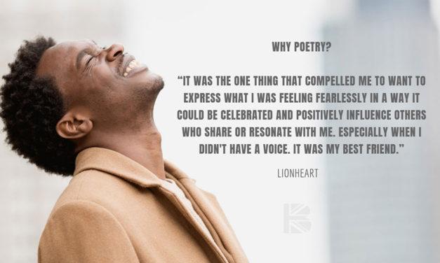 TBB Talks to … Saatchi Gallery poet in residence, LionHeart
