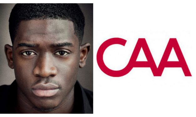 Damson Idris star of snowfall and farming signs with caa
