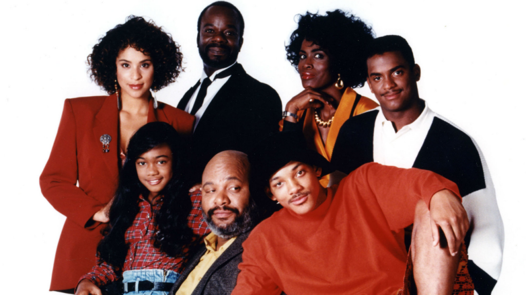 A picture of the cast of The Fresh Prince of Bel Air