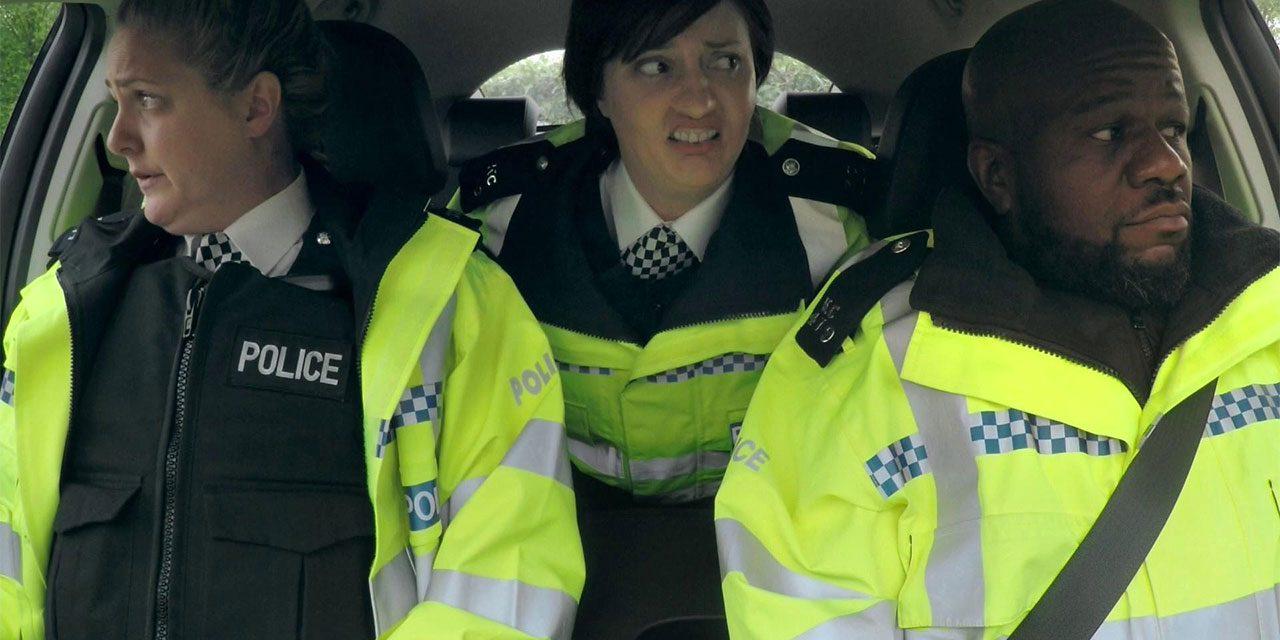 'PC' Delroy Atkinson Does Ride-Along With Morgana Robinson's 'Miranda Hart' in, The Agency