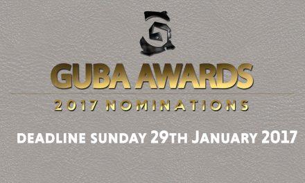 GUBA 2017 Awards Nominations Open. Deadline January 29th 2017